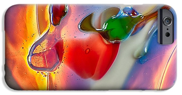 Fine Abstract Glass iPhone Cases - Winged Beauty iPhone Case by Omaste Witkowski