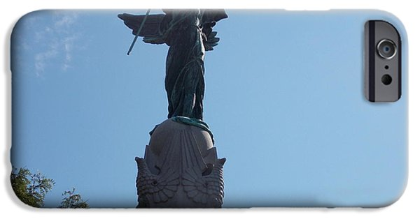 Wwi iPhone Cases - Winged Victory iPhone Case by Catherine Gagne