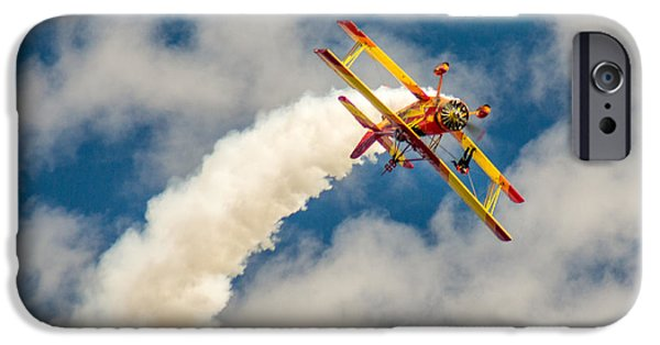 Barnstormer Photographs iPhone Cases - Winging It iPhone Case by Bill Pevlor