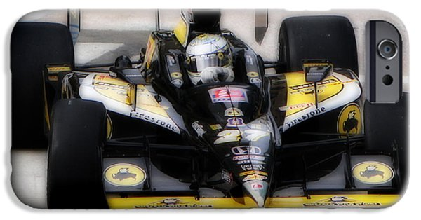 Indy Car iPhone Cases - Wings and Racing iPhone Case by Bryan Maransky