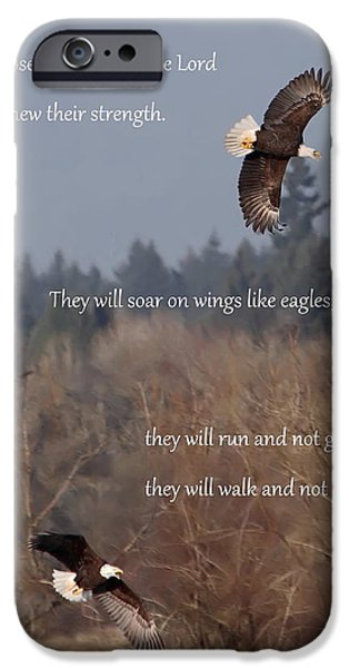 Flight iPhone Cases - Wings Like Eagles iPhone Case by Angie Vogel