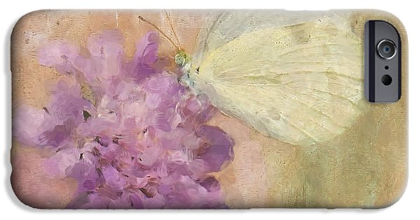 Cabbage White Butterfly iPhone Cases - Wings of Beauty iPhone Case by Betty LaRue