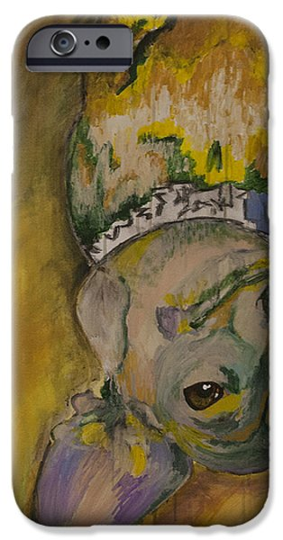 Dog Close-up Paintings iPhone Cases - Winnie iPhone Case by Lynn Schmidt