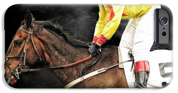 Horse Racing iPhone Cases - Winning horse iPhone Case by Tim Palmer