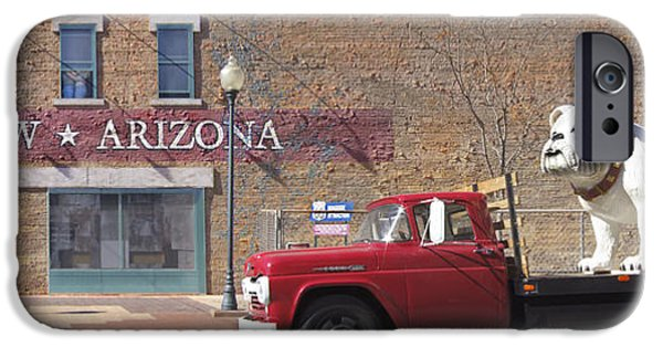 Dogs Digital Art iPhone Cases - Winslow Arizona iPhone Case by Mike McGlothlen