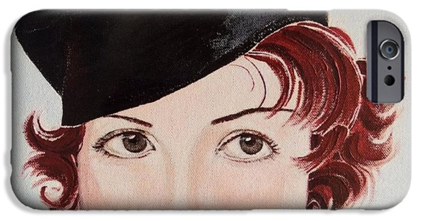 Seductive iPhone Cases - Winsome and Mischievious  iPhone Case by Barbara Chase