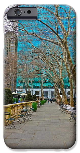Winter 2014 at Bryant Park C iPhone Case by Dianne Somma