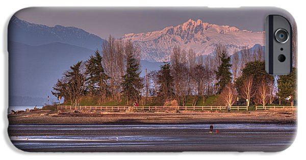 Beach Landscape iPhone Cases - Winter Afternoon iPhone Case by Randy Hall