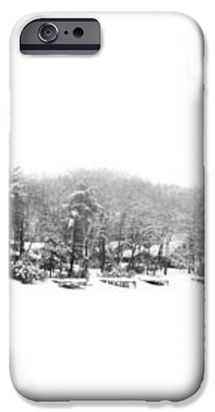 Winter And Fog at the Lake iPhone Case by Geoffrey Coelho