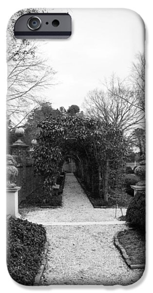 Historic Triangle iPhone Cases - Winter Arbor at the Governors Palace iPhone Case by Teresa Mucha