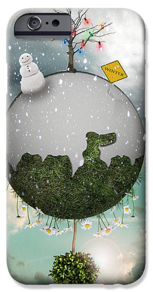 Christmas iPhone Cases - Winter Around the World iPhone Case by Juli Scalzi