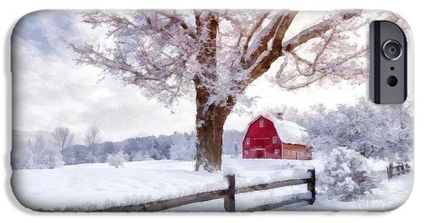 Winter iPhone Cases - Winter Arrives Watercolor II iPhone Case by Edward Fielding