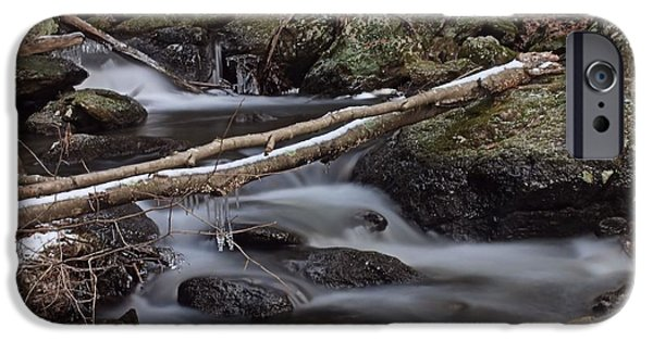 Buttermilk Falls iPhone Cases - Winter at Buttermilk Falls iPhone Case by Frank Piercy