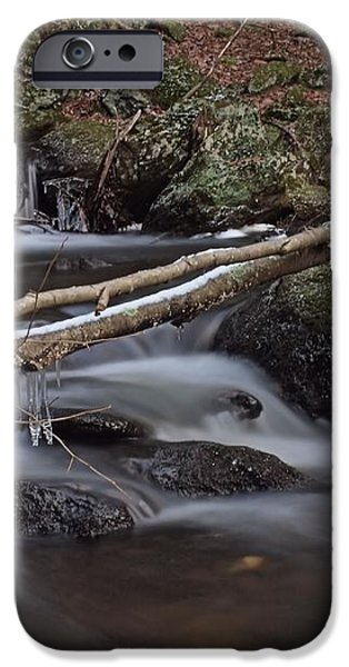 Winter at Buttermilk Falls iPhone Case by Frank Piercy