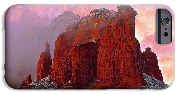 Creek iPhone Cases - Winter at Coffee Pot Rock iPhone Case by Markus Eye
