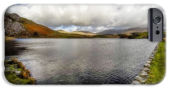 Waterscape iPhone Cases - Winter at Dywarchen Lake iPhone Case by Adrian Evans