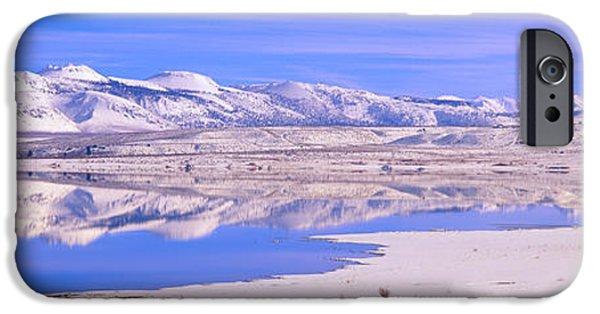 Mountain iPhone Cases - Winter At Mono Lake, California iPhone Case by Panoramic Images