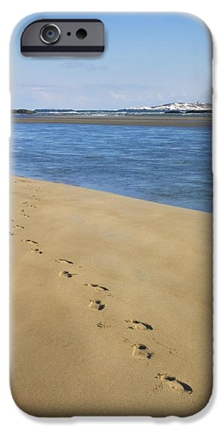 Winter In Maine iPhone Cases - Winter at Popham Beach State Park Maine iPhone Case by Keith Webber Jr