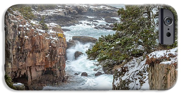 Recently Sold -  - Maine iPhone Cases - Winter at Ravens Nest iPhone Case by Susan Cole Kelly