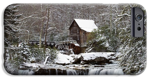 Grist Mill iPhone Cases - Winter at the Mill iPhone Case by Daniel Houghton