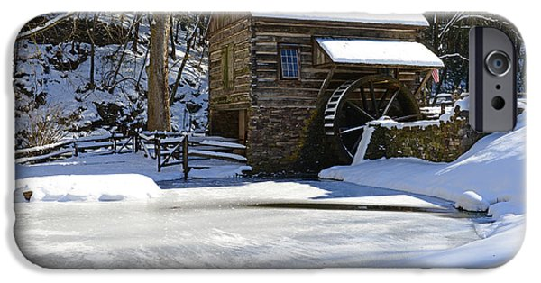 Grist Mill iPhone Cases - Winter at the Mill iPhone Case by Paul Ward