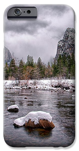 Winter at Valley View iPhone Case by Cat Connor