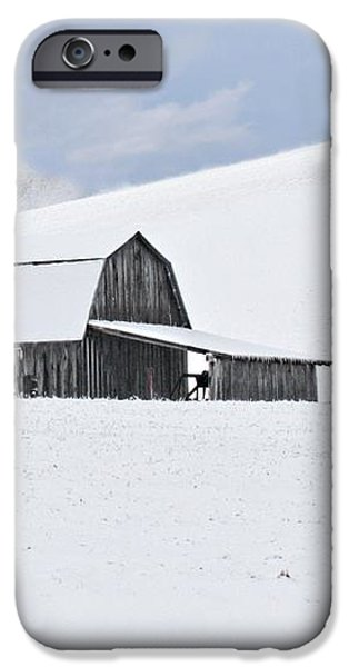 Winter Barn iPhone Case by Benanne Stiens