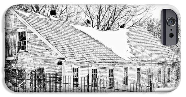 Winter Storm iPhone Cases - Winter Barn iPhone Case by Marcia Lee Jones