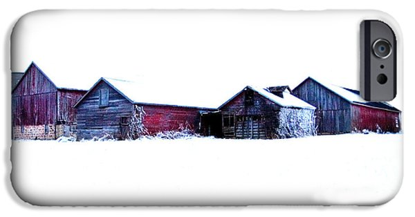 Barns iPhone Cases - Winter Barns iPhone Case by Jeff Klingler