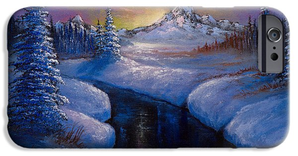 Bob Ross Paintings iPhone Cases - Winter Beauty iPhone Case by C Steele