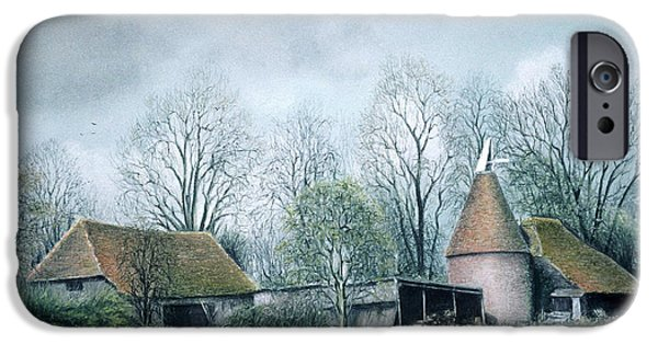 House Art Pastels iPhone Cases - Winter Beauty iPhone Case by Rosemary Colyer