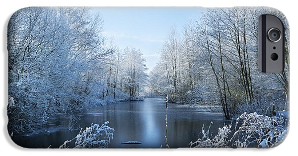 Snowy Stream iPhone Cases - Winter Beauty iPhone Case by Svetlana Sewell