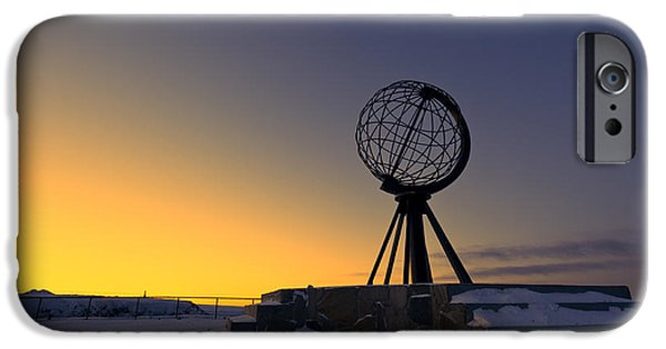 Norwegian Sunset iPhone Cases - Winter beyond the arctic circle iPhone Case by Ulrich Schade