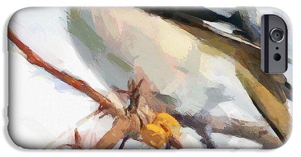 House Pet Digital Art iPhone Cases - Winter Bird 7 iPhone Case by Yury Malkov