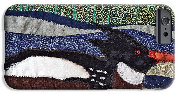 Wild Animals Tapestries - Textiles iPhone Cases - Winter Bird iPhone Case by Susan Macomson