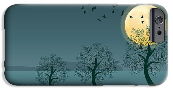 Limburg iPhone Cases - Winter birds and trees iPhone Case by Nop Briex