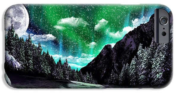 Winter Scene iPhone Cases - Winter Bliss iPhone Case by Anthony Citro