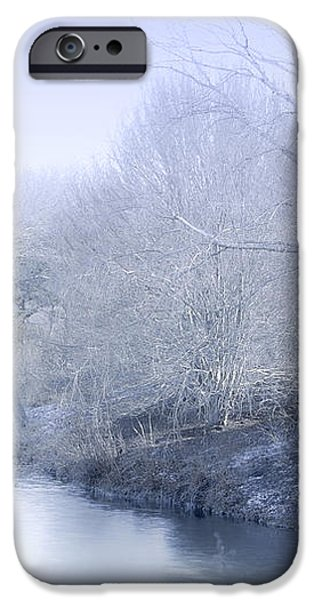 Winter Blue and White iPhone Case by Julie Palencia