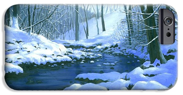 Michael Swanson iPhone Cases - Winter Blues - SOLD iPhone Case by Michael Swanson
