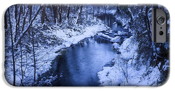 West Fork iPhone Cases - Winter Blues iPhone Case by Sue Cullumber