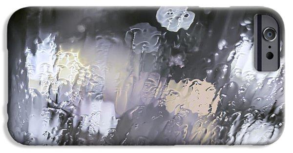 Winter Storm Digital iPhone Cases - Winter Bokeh iPhone Case by Daniel Hagerman