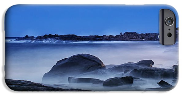 Nubble Lighthouse iPhone Cases - Winter Bomb hits Nubble iPhone Case by Scott Thorp