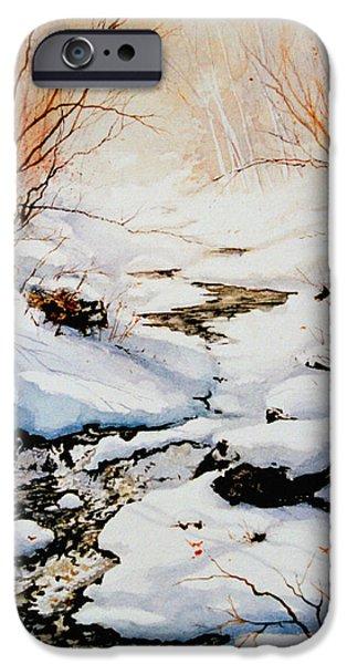 Snow Scene iPhone Cases - Winter Break iPhone Case by Hanne Lore Koehler