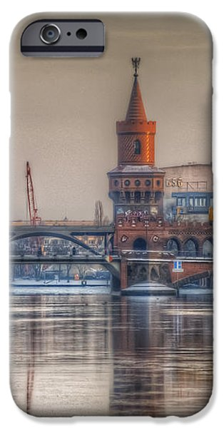 Winter bridge iPhone Case by Nathan Wright