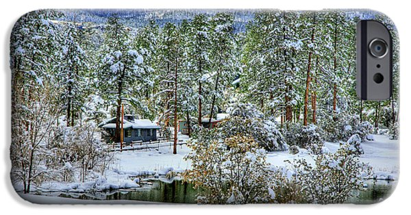 Prescott iPhone Cases - Winter By The Pond iPhone Case by K D Graves