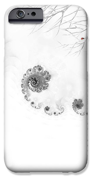 Snow Scene iPhone Cases - Winter calls 2 iPhone Case by Sharon Lisa Clarke