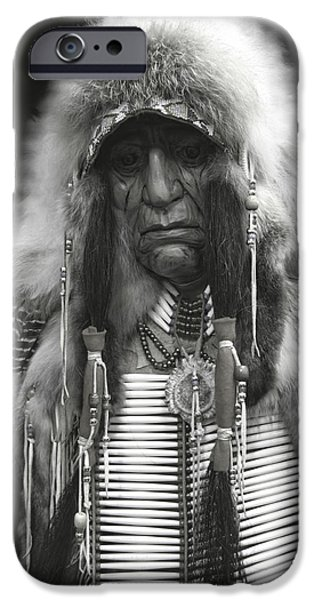 Crows Mixed Media iPhone Cases - Winter Chief B W iPhone Case by Daniel Hagerman