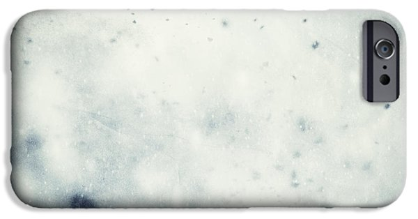 Winter Storm iPhone Cases - Winter Christmas background iPhone Case by Michal Bednarek