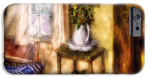 Interior Still Life Digital iPhone Cases - Winter - Christmas - Early Christmas Morning iPhone Case by Mike Savad