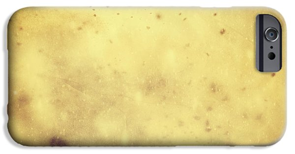 Winter Storm iPhone Cases - Winter Christmas gold vintage background iPhone Case by Michal Bednarek